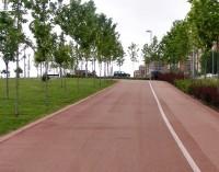 El nuevo itinerario ciclista 'Gran Vía de Hortaleza', en marcha