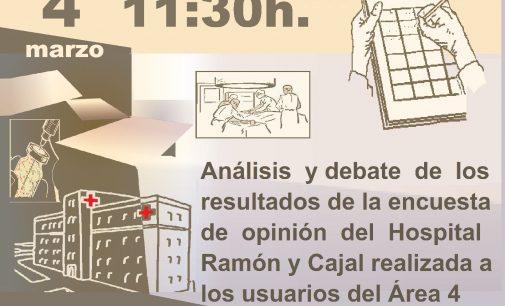 Acto informativo en Hortaleza sobre el Hospital Ramón y Cajal