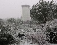 Hortaleza bajo la nieve