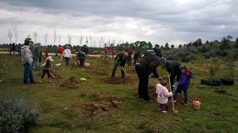 El vecindario de Las Cárcavas planta su bosque en Valdebebas