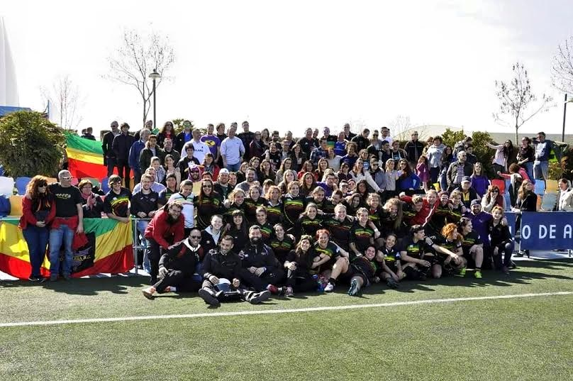 Las chicas del XV Hortaleza, campeonas de Madrid