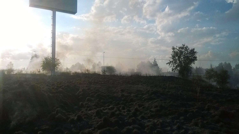 Los bomberos sofocan un incendio entre las autovías