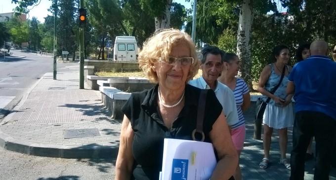 Manuela Carmena visita la UVA de Hortaleza