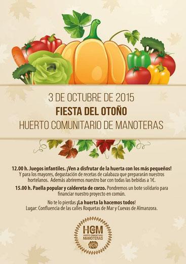 Fiesta otoño huerto Manoteras