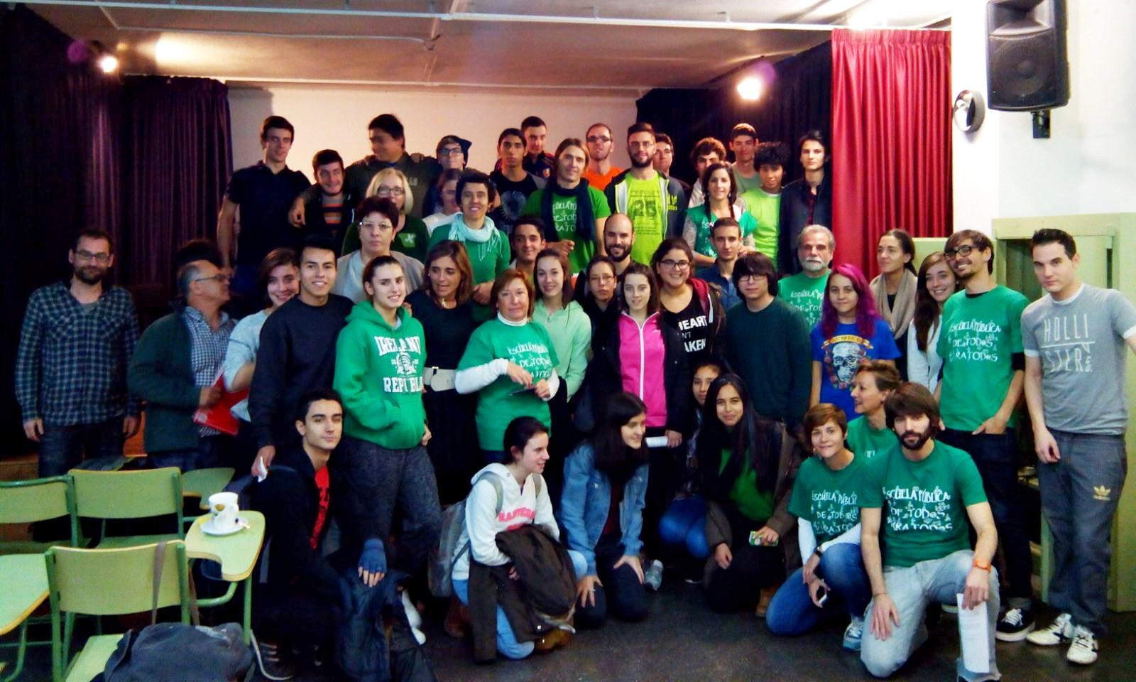 El instituto Rosa Chacel se vuelve a poner la camiseta verde