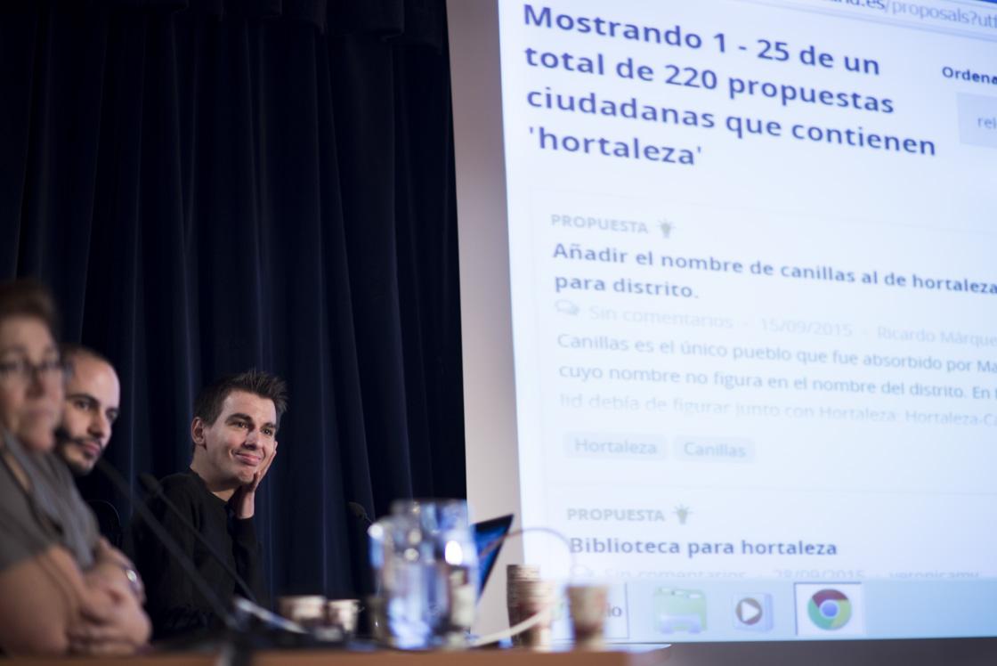 La iniciativa Madrid Decide se presenta en Hortaleza