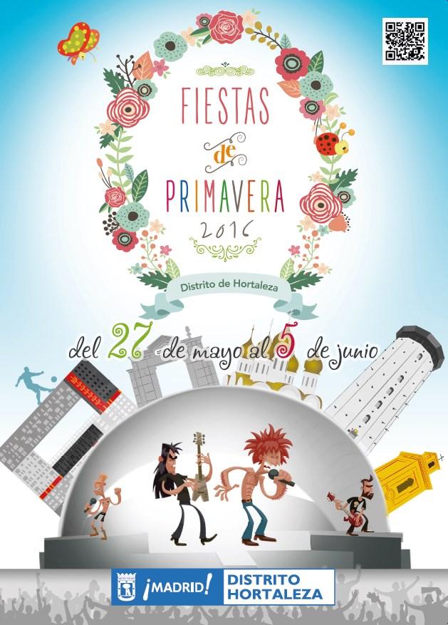 Cartel Fiestas Hortaleza 2016