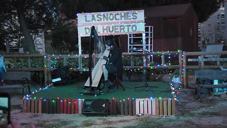 ¿Un concierto de arpa en Manoteras?