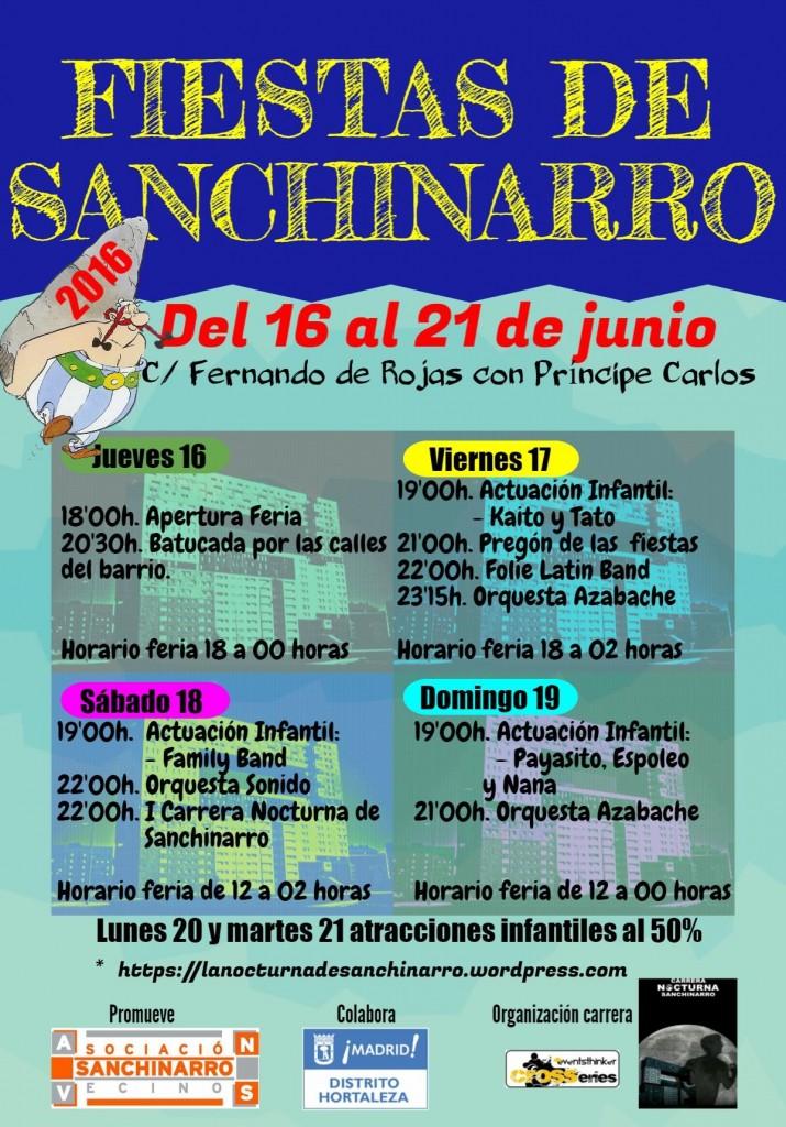 cartel fiestas Sanchinarro