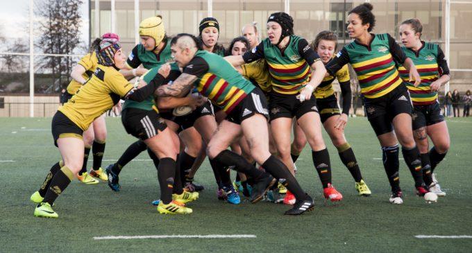 Las 'dragonas' disputan la Copa de la Reina de rugby