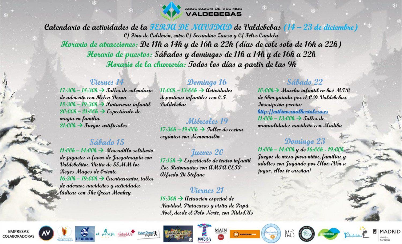 Feria De Navidad 2018 En Valdebebas Pintacaras Y Visita De Papa