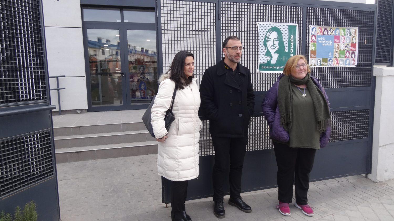 Yolanda Rodríguez y Nacho Murgui visitan la futura Casa de las Asociaciones y el Espacio de Igualdad de Hortaleza