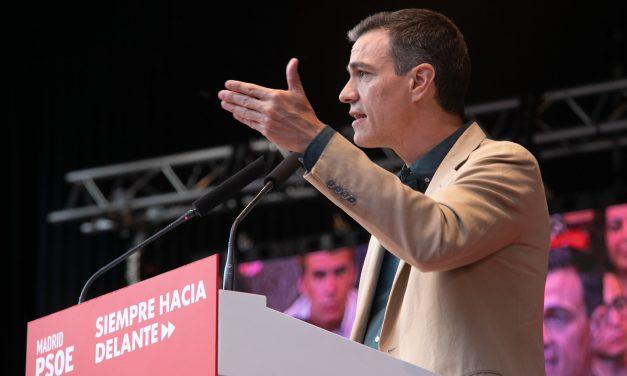 Pedro Sánchez cerrará en Hortaleza la campaña del PSOE