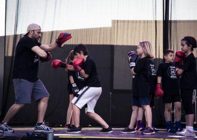 Exhibición de boxeo por parte de la Asociación Cárcavas-San Antonio. SANDRA BLANCO