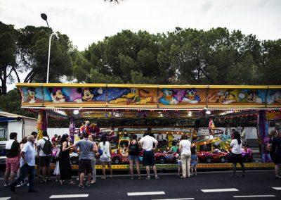 Atracciones infantiles en Lopez de Hoyos. SANDRA BLANCO