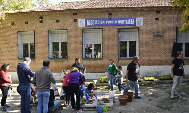 Fiesta del compostaje en el pueblo de Hortaleza