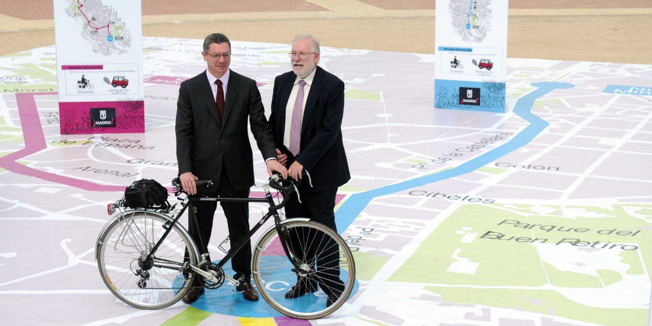 El carril bici de Gran Vía de Hortaleza es una idea del Partido Popular