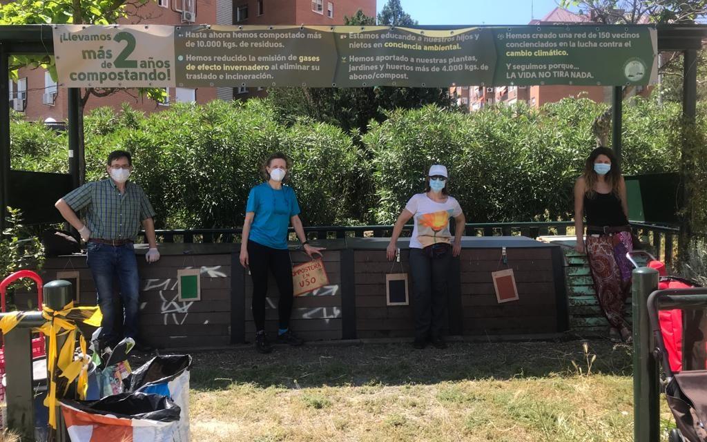 Reabren las áreas de compostaje en Hortaleza