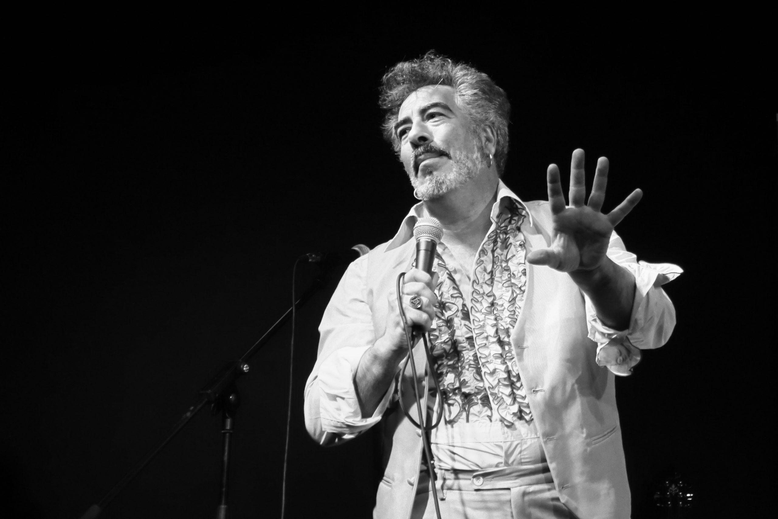 Agustín Jiménez durante el evento. NINO DOMÍNGUEZ